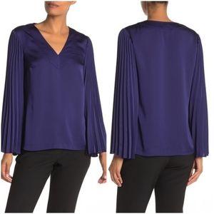 Trina Turk Satin Sleeve Blouse Size M